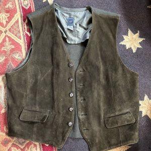 Men's Suede and Wool Vest